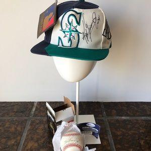 ⚾️KEN GRIFFEY JR. Signed 125th MLB ANNIVERSARY HAT